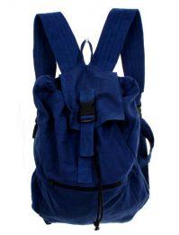 Bolsos y Mochilas Hippies - Mochila de loneta con múltiples BOHC06 - Modelo Azul