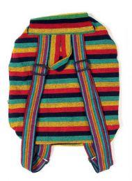 Bolsos y Mochilas Hippies - Mochilla Hippie Rasta Multicolor BOHC22.