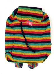 Hippie Rasta Multicolor Backpack BOHC22 to buy in bulk or in detail in the category of Alternative Hippie Accessories.
