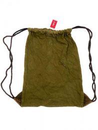 Bolsos y Mochilas Hippies - Mochila de algodón lavada piedra [BOHC26B] para comprar al por mayor o detalle  en la categoría de Complementos Hippies Alternativos.