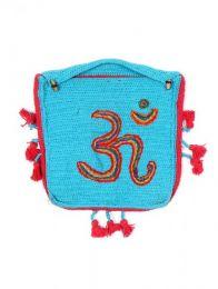 Bolsos y Mochilas Hippies - Bolso realizado en Ganchillo BOHC27 - Modelo Azul