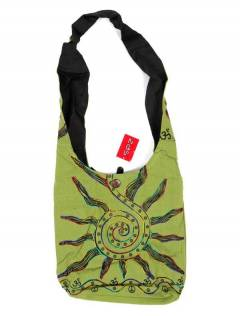 Large shoulder bag with Embroidered Sun, to buy wholesale or detail in the category of Hippie Bohemian Fashion Accessories | ZAS. [BOKA03]