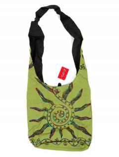 Borsa a tracolla grande con sole ricamato, da acquistare all'ingrosso o dettaglio nella categoria di Abbigliamento Donna Hippie | Negozio alternativo ZAS. [BOKA03]