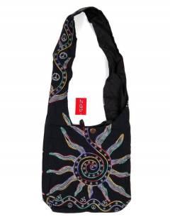 Bolso bandolera grande con Sol Bordado BOKA03 para comprar al por mayor o detalle  en la categoría de Complementos Hippies Alternativos.