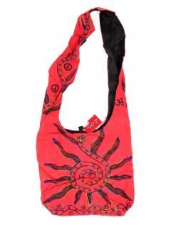 Bolsos y Mochilas Hippies - Bolso bandolera grande con Sol Bordado [BOKA03] para comprar al por mayor o detalle  en la categoría de Complementos Hippies Alternativos.