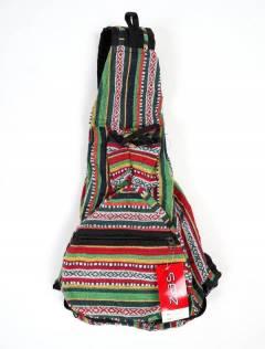 Sac à dos pliable à rayures multicolores BOKA07 à acheter en gros ou en détail dans la catégorie des accessoires hippies alternatifs.