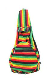 Mochila plegable de rayas multicolores BOKA07 para comprar al por mayor o detalle  en la categoría de Sandalias Hippies Étnicas.