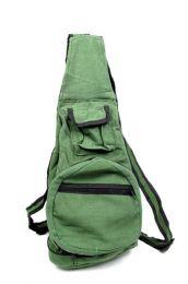 Mochila plegable de rayas Mod Verde