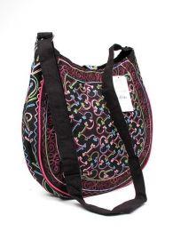 Grand sac rond en peau de pêche BOKA11 pour acheter en gros ou en détail dans la catégorie Alternative Ethnic Hippie Outlet | Magasin ZAS Hippie.