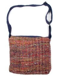 Bolso de piel de seda reciclada Mod Azul