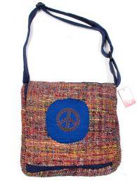 Bolso de piel de seda reciclada Mod Azul paz
