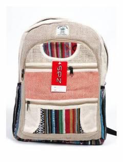Grande mochila de cânhamo, para comprar no atacado ou detalhe na categoria de acessórios de moda hippie boêmio | ZAS. [BOKA20]