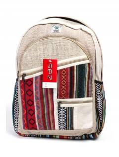 Large Hemp Backpack, to buy wholesale or detail in the category of Hippie Women's Clothing | ZAS Alternative Store. [BOKA20]