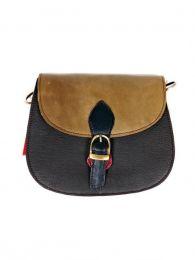 Bolso de Cuero Reciclado Multi Colores,  para comprar al por mayor o detalle  en la categoría de Accesorios de Moda Hippie Bohemia | ZAS. [BOKA23-1]