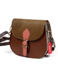 Multicolour Recycled Leather Bag BOKA23 to buy in bulk or in detail in the Alternative Ethnic Hippie Outlet category.