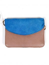 Recycled Leather Bags Zero Waste - Recycled Leather Bag - Blue wild cover [BOKA23B-5] to buy wholesale or retail in the Alternative Hippie Accessories category.