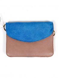 Tasche aus recyceltem Leder - Wildblauer Deckel BOKA23B-5 zum Kauf in loser Schüttung oder im Detail in der Kategorie Alternatives Hippie-Zubehör.
