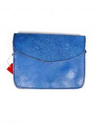 Bolsos de Piel Reciclada Zero Waste - Bolso de Piel Reciclada - Tapa salvaje azul [BOKA23B-5] para comprar al por mayor o detalle  en la categoría de Complementos Hippies Alternativos.