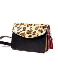 Recycled Leather Bag - Wild print cover BOKA23B-7 to buy wholesale or detail in the category of Hippie Clothing for Men.