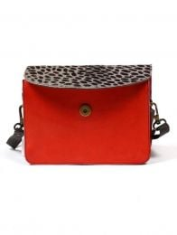 Animal Print Leather Bags - BOKA23B-8 RECYCLED LEATHER square bags.