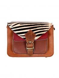 Bolsa de couro reciclado com bolso frontal BOKA24-C para comprar a granel ou em detalhes na categoria de Acessórios Alternativos Hippie.