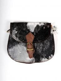 Recycled Leather Bag with Wild Print BOKA25-B to buy in bulk or in detail in the category of Alternative Hippie Accessories.