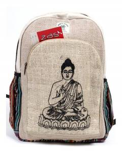 Large Hemp Backpack. Hemp Bags, Backpacks and Waist Packs to buy wholesale or detail in the Bohemian Hippie Fashion Accessories category | ZAS. [BOKA30]