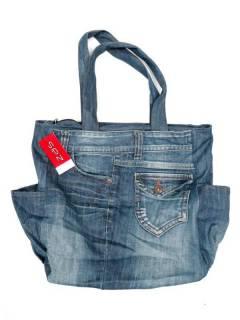 Big Recycled Jeans Tasche BOMI02 zum Kauf im Großhandel oder Detail in der Kategorie Bohemian Hippie Fashion Accessoires | ZAS.