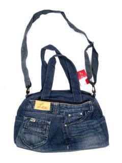 Bolso Asa y Bandolera de Vaqueros Jeans Reciclados BOMI04 para comprar al por mayor o detalle  en la categoría de Accesorios de Moda Hippie Bohemia | ZAS.