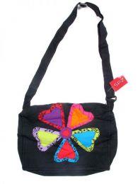 Bolso flor hippie corazones. BOMT02 para comprar al por mayor o detalle  en la categoría de Ropa Hippie Alternativa para Mujer.