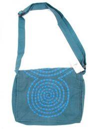 Bolso tipo messenger bag 100% Mod Azul