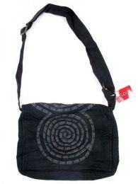 bolso mensajero espiral.bolso Mod Negro