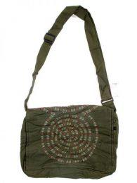 bolso mensajero espiral.bolso Mod Verde