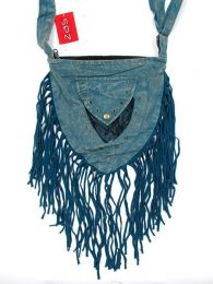 Outlet Bags and Other hippie items - Fringed triangular hippie bag [BOMT10] to buy in bulk or in detail in the Alternative Ethnic Hippie Outlet category.