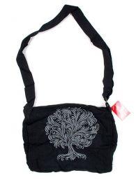 Bolso hippie con bordado arbol, Mod Negro
