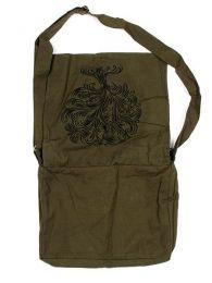 Bolso hippie con bordado arbol, detalle del producto