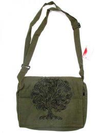 Bolso hippie con bordado arbol, Mod Verde