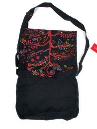 Bolso hippie con bordado arbol detalle del producto