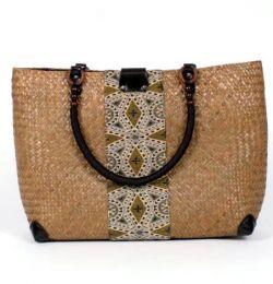 bolso de rafia con detalles Mod Natural
