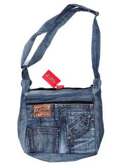 Hippies Bags and Backpacks - Recycled Jeans Trousers Bag [BOSH01] to buy in bulk or in detail in the Alternative Hippies Accessories category.