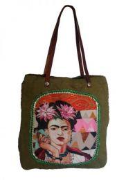 Colección Catkini - Frida Kahlo - Bolso Fhida Khalo de Algodon BOWB01 - Modelo Wb16