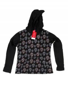T-shirt with Skulls and Hood, to buy wholesale or detail in the category of Dilators and Horn and Bone Plugs | ZAS Hippie Store. [CACEV04]