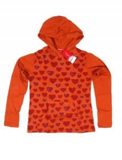 T-Shirt mit Herzen und Kapuze CACEV05 zum Großhandel oder Detail in der Kategorie Alternativer ethnischer Hippie-Schmuck zu kaufen.