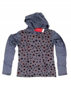Camiseta con estrellas y capucha CACEV06 para comprar al por mayor o detalle  en la categoría de Outlet Hippie Étnico Alternativo.