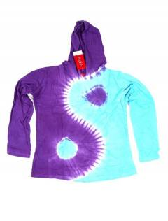 Ying Yang Tie Dye T-shirt with hood CACEV07 to buy wholesale or detail in the Alternative Hippie Accessories category.