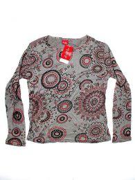 Outlet Ropa Hippie - Camiseta de rayón de CAEV02 - Modelo 161