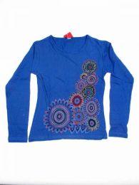 Camiseta de algodón Mod Azul