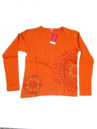 Camiseta de algodón Mod Naranja