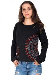 Camiseta M Larga bordados mandala CAEV07 para comprar al por mayor o detalle  en la categoría de Ropa Hippie de Mujer | ZAS Tienda Alternativa.