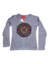 Camiseta de algodón Mod Gris